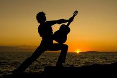 gitarristspanjor Royaltyfria Foton