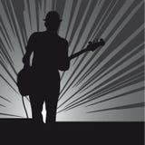 gitarrmän Fotografering för Bildbyråer