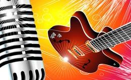 gitarrmikrofon vektor illustrationer