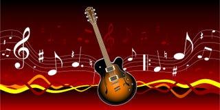 gitarrmusik Royaltyfri Foto