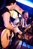 gitarrmusikerspelrum Royaltyfri Fotografi