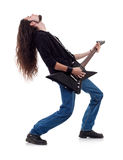 gitarrmusikerspelrum Royaltyfri Foto