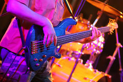 gitarrspelrum Arkivfoto