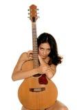 gitarrvän royaltyfri fotografi