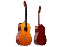 gitary akustyczne dwa Obrazy Royalty Free