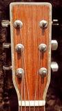 Gitary akustycznej headstock Zdjęcia Stock