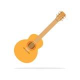 Gitary akustycznej ikony mieszkania styl Fotografia Royalty Free