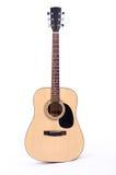 Gitary akustycznej stać pionowy Obrazy Royalty Free