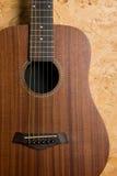 Gitary akustycznej tło Fotografia Stock