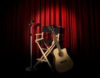 gitary akustycznej występu scena Zdjęcia Royalty Free