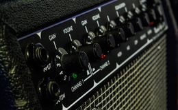 Gitary amp zakończenie w górę obraz stock