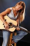 gitary dama Fotografia Royalty Free