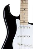 Gitary elektrycznej ciało odizolowywający nad białym tłem Zdjęcia Royalty Free