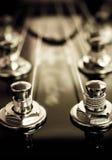 Gitary elektrycznej headstock Zdjęcia Royalty Free