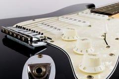 Gitary Elektrycznej ` s tarcz Up zakończenie Obraz Royalty Free