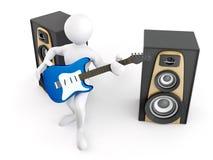 gitary głośnika mężczyzna ilustracji
