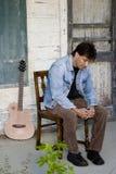 gitary gracza ganeczek Zdjęcie Stock