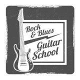 Gitary grunge szkolnego loga wektorowy projekt ilustracji