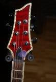 gitary headstock czerwień Zdjęcia Stock