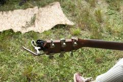 Gitary headstock z kluczami Obrazy Stock