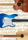 Gitary I Muzyczny tło Zdjęcie Stock