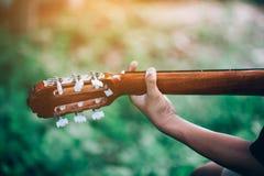 Gitary i natury Dobra atmosfera fotografia stock