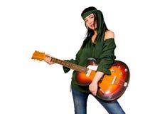 Gitary kobieta Obrazy Royalty Free