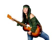 Gitary kobieta Obraz Stock