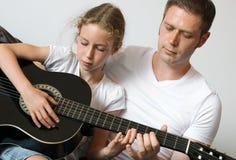 Gitary lekcja Zdjęcie Royalty Free