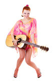 gitary piękna kobieta Obraz Royalty Free