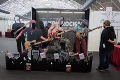 Gitary przy Milano gitarami Poza 2013 w Mediolan &,  Obraz Royalty Free