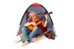 gitary starsza kobieta fotografia royalty free
