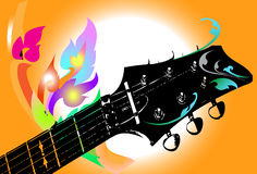 Gitary sztuka royalty ilustracja