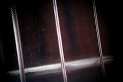 Gitary szyja z sznurkami w makro- obrazy stock