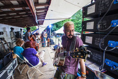 Gitarzysta i piosenka pisarz Matt Morris Obrazy Royalty Free