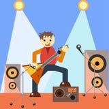 Gitarzysta na scenie Obraz Stock