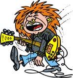 Gitarzysta rockowa chłopiec ilustracja wektor