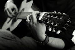 gitarzysta scena Zdjęcia Royalty Free