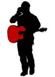 gitarzysty akustyczny mężczyzna ilustracji