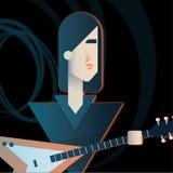 Gitarzysty charakter zespół rockowy zdjęcia stock