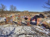 Gitchee Manitou är en natursylt på den Iowa/South Dakota gränsen som är ökänd för mord av barn arkivbilder