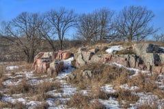 Gitchee Manitou är en natursylt på den Iowa/South Dakota gränsen som är ökänd för mord av barn arkivfoto