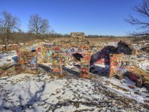Gitchee Manitou is a Nature Preserve on the Iowa/South Dakota border Infamous for murders of children.  Stock Images