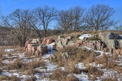 Gitchee Manitou is a Nature Preserve on the Iowa/South Dakota border Infamous for murders of children.  stock photo