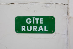 Free Gite Rural Sign In French Stock Photography - 61413982