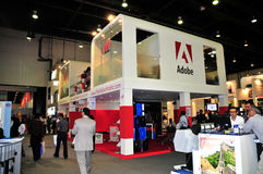 GITEX 2008 - Adobe-Pavillion Lizenzfreies Stockfoto