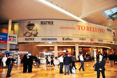 GITEX 2008 - Entrance. Entrance hall of GITEX Technology Week 2008, Asia's biggest Shopper & Consumer Electronics Exhibition in Dubai, UAE Stock Image