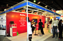 Gitex 2008 - McAfee Pavilion Royalty Free Stock Photos