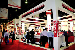 GITEX  2008 - Oracle Pavilion Royalty Free Stock Photos