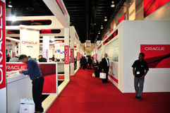 GITEX 2008 - Oracle Pavilion Royalty Free Stock Photo